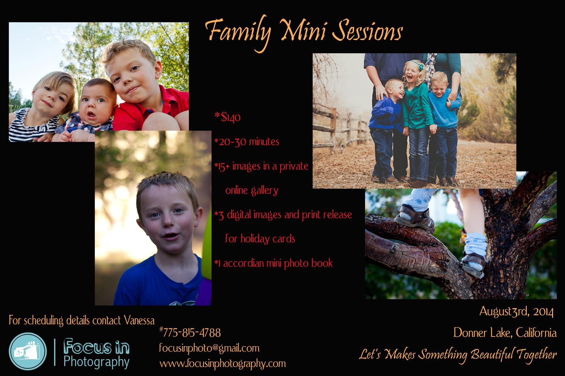 Family Mini-Sessions | Donner Lake